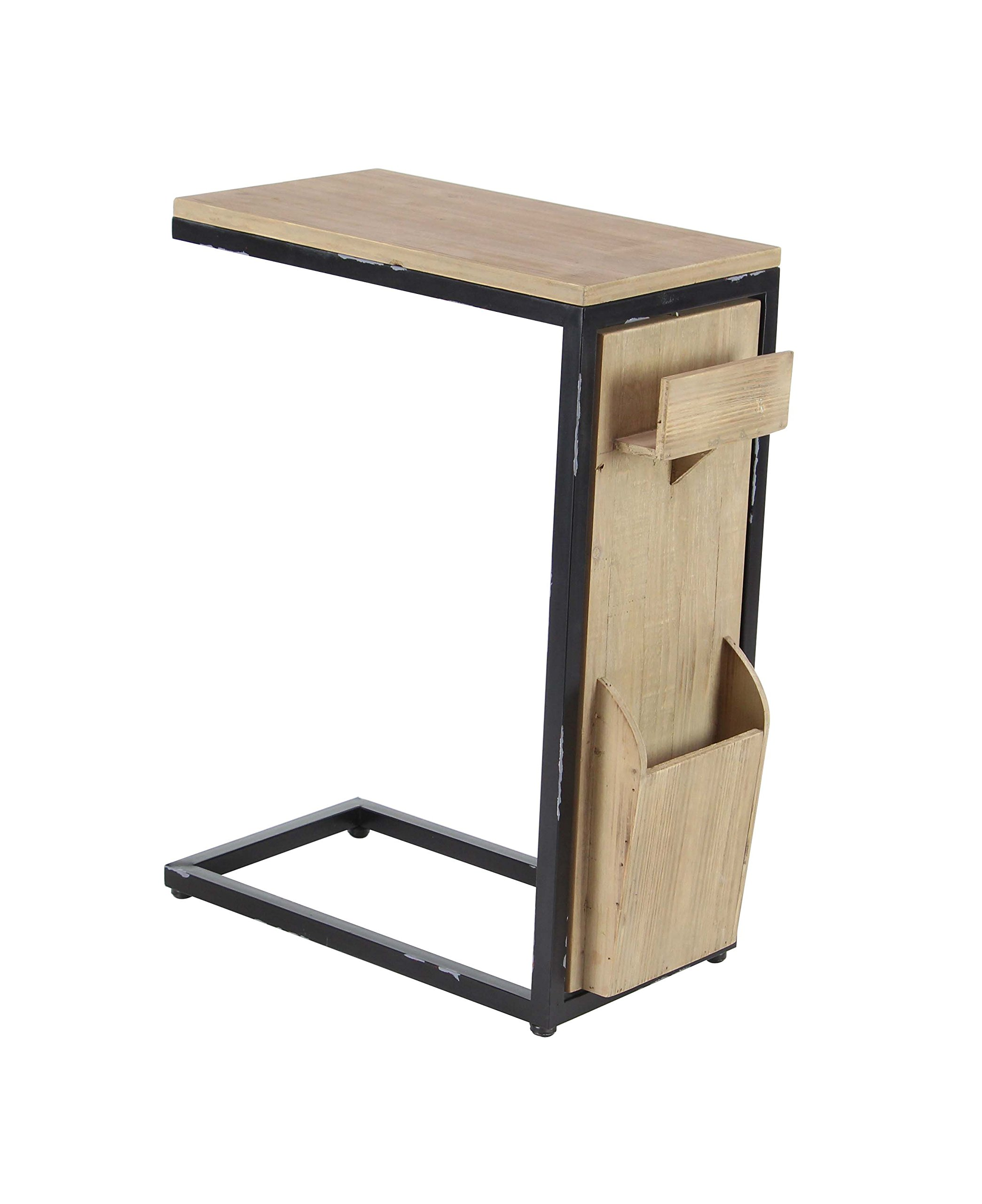 Deco 79 60199 60199 Side Table, Light Brown/Black