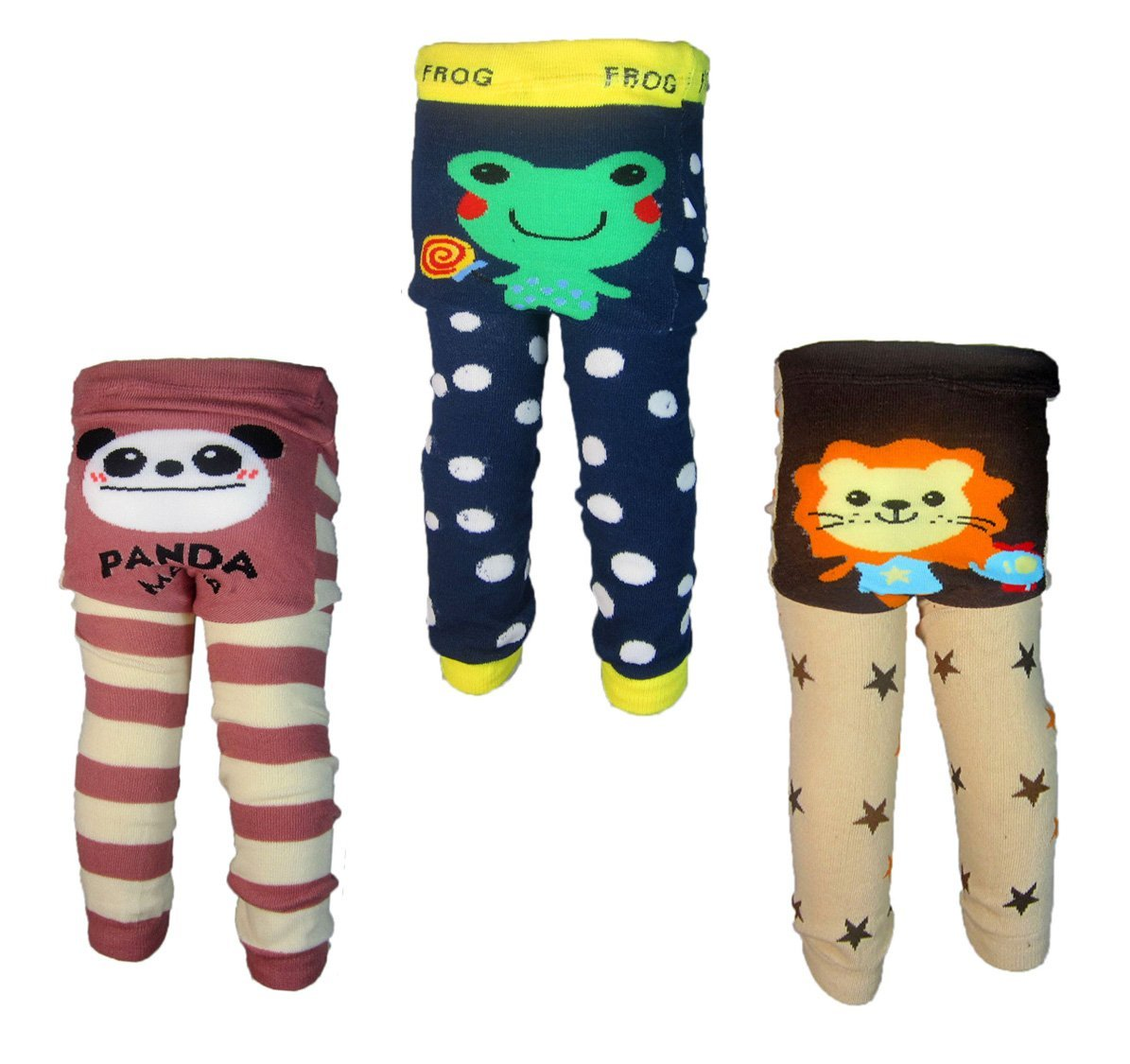[Backbuy] 3 Pants 0-24 Months Baby Boys Toddler Leggings trousers Knitted pants G6H2H3 (12-18 Months)