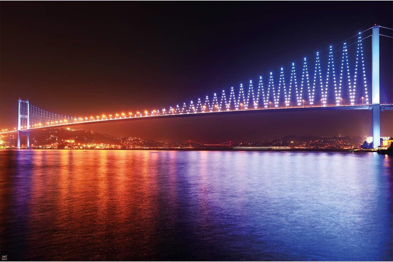 Istanbul City Bridge  Wall Mural Photo Wallpaper GIANT WALL DECOR Paper Poster