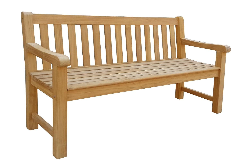 Gartenbank Teak L 150 cm Gartenmöbel Holzbank Sitzbank Parkbank kaufen