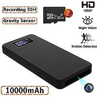 Cámaras espías Ocultas, Mini cámara de Seguridad 1080P con visión Nocturna Detección de Movimiento Gravedad Sensor Grabación en Bucle (incorporada en Tarjeta SD de 32GB)