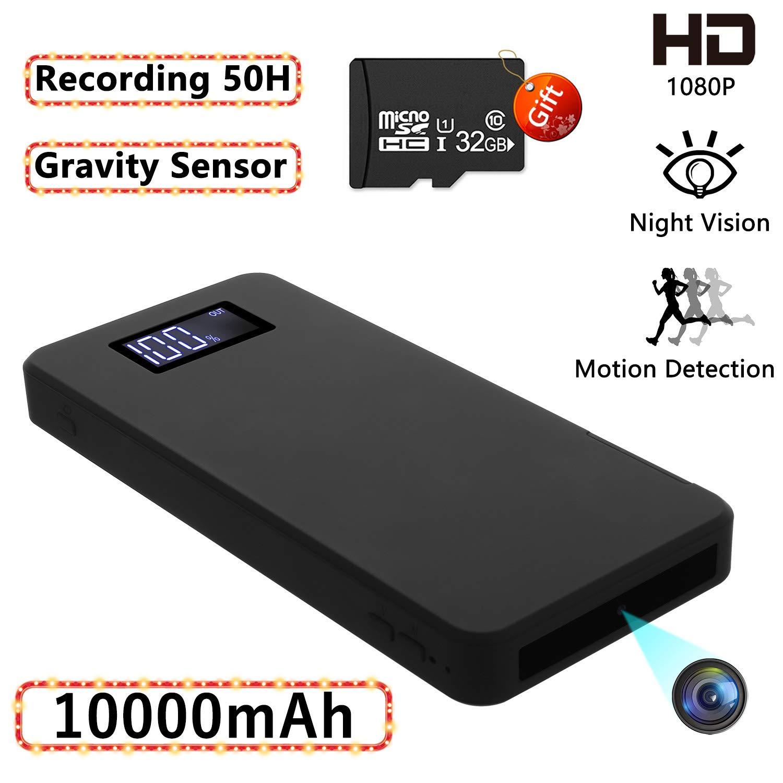 Cámaras espías Ocultas, Mini cámara de Seguridad 1080P con visión Nocturna Detección de Movimiento Gravedad Sensor Grabación en Bucle (incorporada en Tarjeta SD de 32GB) product image