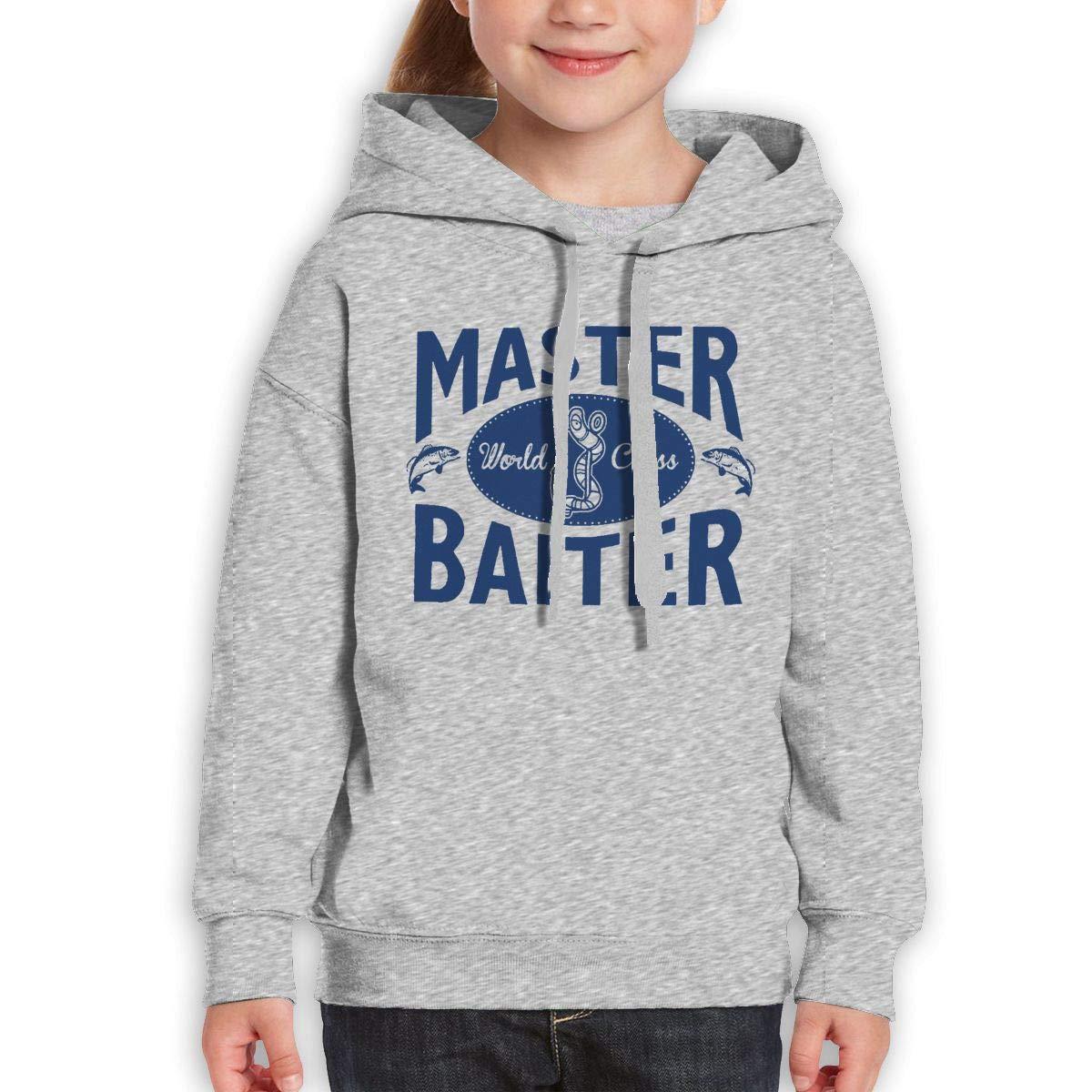 Boys Girls Master World Class Baiter Teen Youth Sweater Gray M