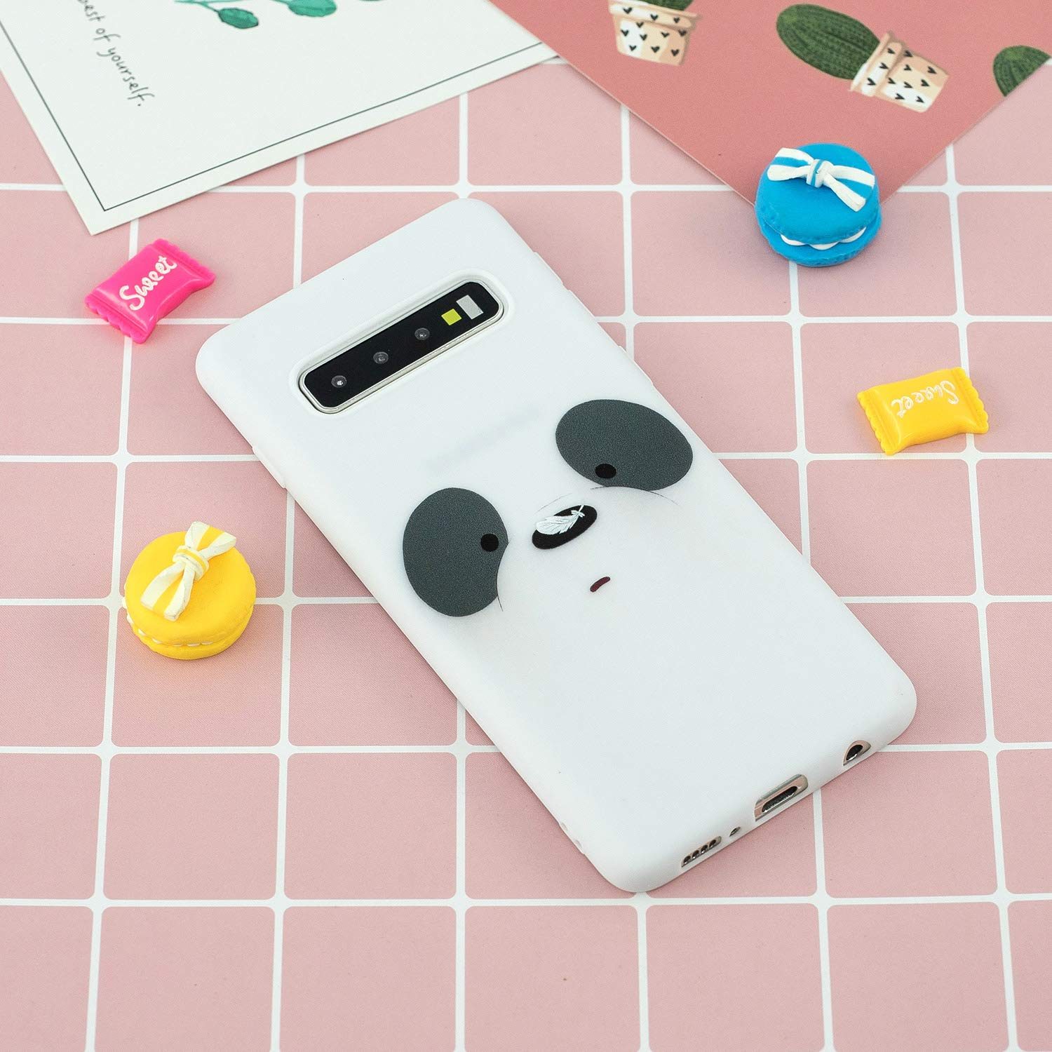 3D Cute Cartoon Animals Pattern Design Soft Silicone Gel Slim Rubber Thin Protective Cover Phone with Lanyard Strap Case for Samsung Galaxy S10 Plus 2019-dinosaur DAMONDY Galaxy S10 Plus Case