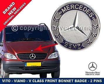 Mercedes-Benz A6388170116 Insignia para capó de Mercedes Vito-V, estilo plano
