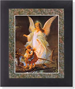 Guardian Angel #3 Children Bridge Religious Wall Picture Framed Art Print
