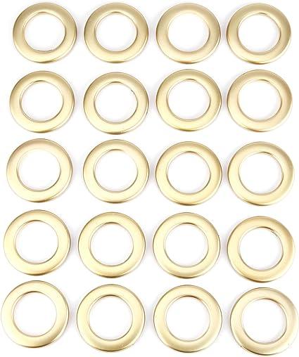 Couleur a choix 20x Anneaux d/'oeillet de rideau en plastique Opaque silenceur