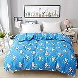 XMZDDZ Printing Child Duvet Cover,Soft Cotton Quilt Cover with Zipper Closure Tie Hypoallergenic Farmhouse Style Bedding