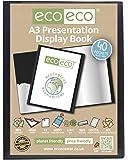 eco-eco Cuaderno de fundas de presentación (A3, 50% reciclado), 40fundas, color negro
