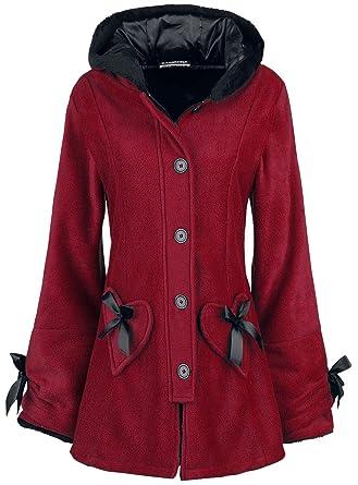Poizen Industries Alison Coat Abrigos y Chaquetas Rojo 4XL: Amazon.es: Ropa y accesorios