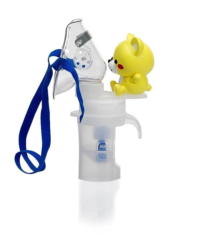 OMRON C-801KD - Inhalador sin aspirador nasal para niños y bebé, designó ligero y compacto, color amarillo