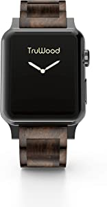 TruWood Everyday Wooden Watch Band Compatible with Apple Watch 42mm 44mm Women Men, Strap for iWatch Series 5, Series 4, Series 3, Series 2, Series 1 (Brown Wood, 42/44mm)