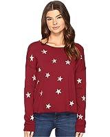 Splendid Womens Ashbury Star Scoop Neck Pullover