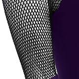 XOWRTE Women's Plus Size Fishnet Color Block O-Neck Patchwork Long Sleeve T-Shirt Blouse Tops