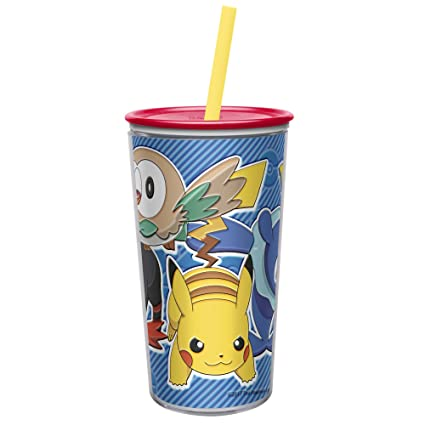 7a4ba1a8d6c Zak Designs 10.5 oz Pokemon Insulated Tumbler With Lid, Straw And Embossed  Artwork - Makes