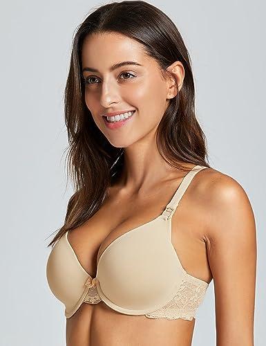 Gratlin Womens Breastfeeding Lightly Padded Plunge Underwire Maternity Nursing Bra at Amazon Womens Clothing store: