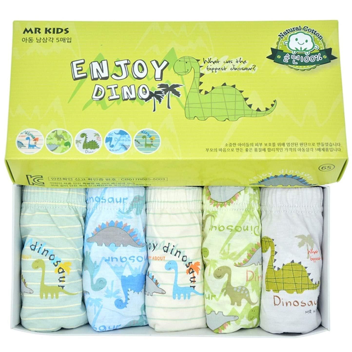 Pack of 5 2T-14 Ourfashion Kids Underwear Little Boys Cartoon Pattern Briefs Toddler
