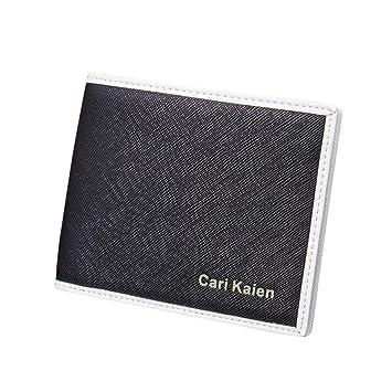 yjydada hombre piel sintética tipo cartera bolsillo tarjeta de Crédito embrague Bifold cartera: Amazon.es: Hogar