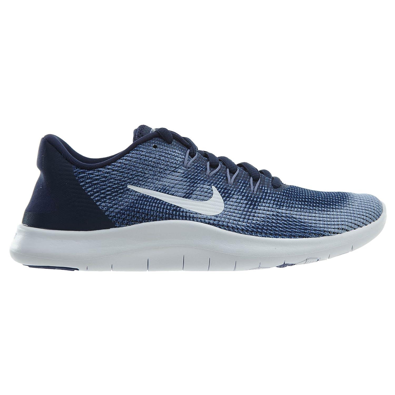 Nike Women's Flex RN 2018 Midnight NavyWhite Purple Slate Running Shoes (7 B US)