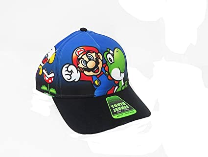 e28ceacc3 Boy's Nintendo Super Mario & Luigi Snapback Baseball Cap
