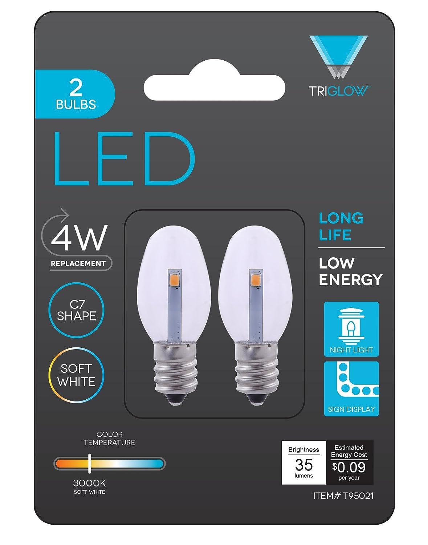 Triangle Bulbs 0.5-Watt C7 LED Night Light Bulb, Clear, 2-Pack - - Amazon .com