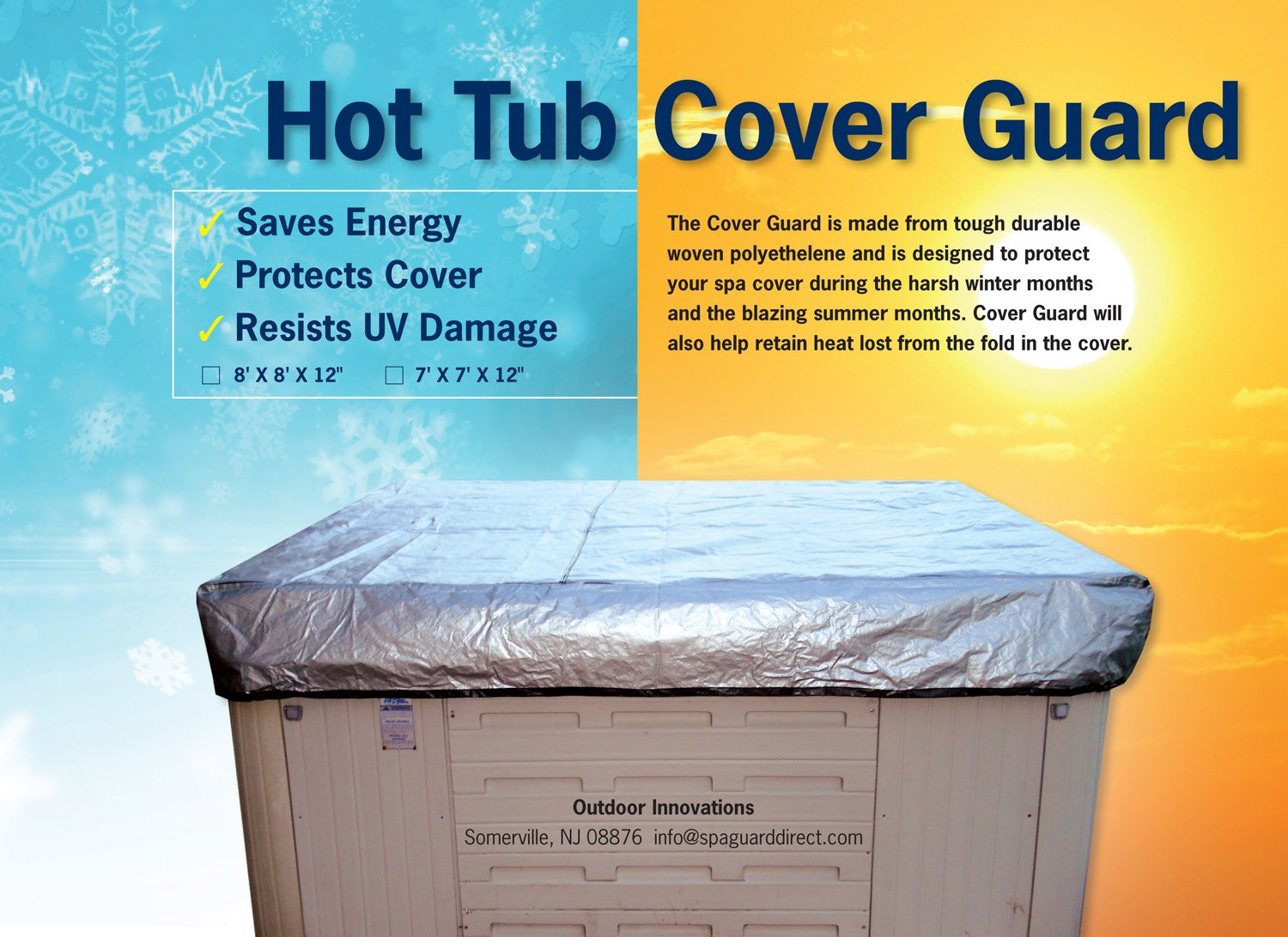 Amazon.com : Hot Tub Cover Cap 7x7 : Garden & Outdoor