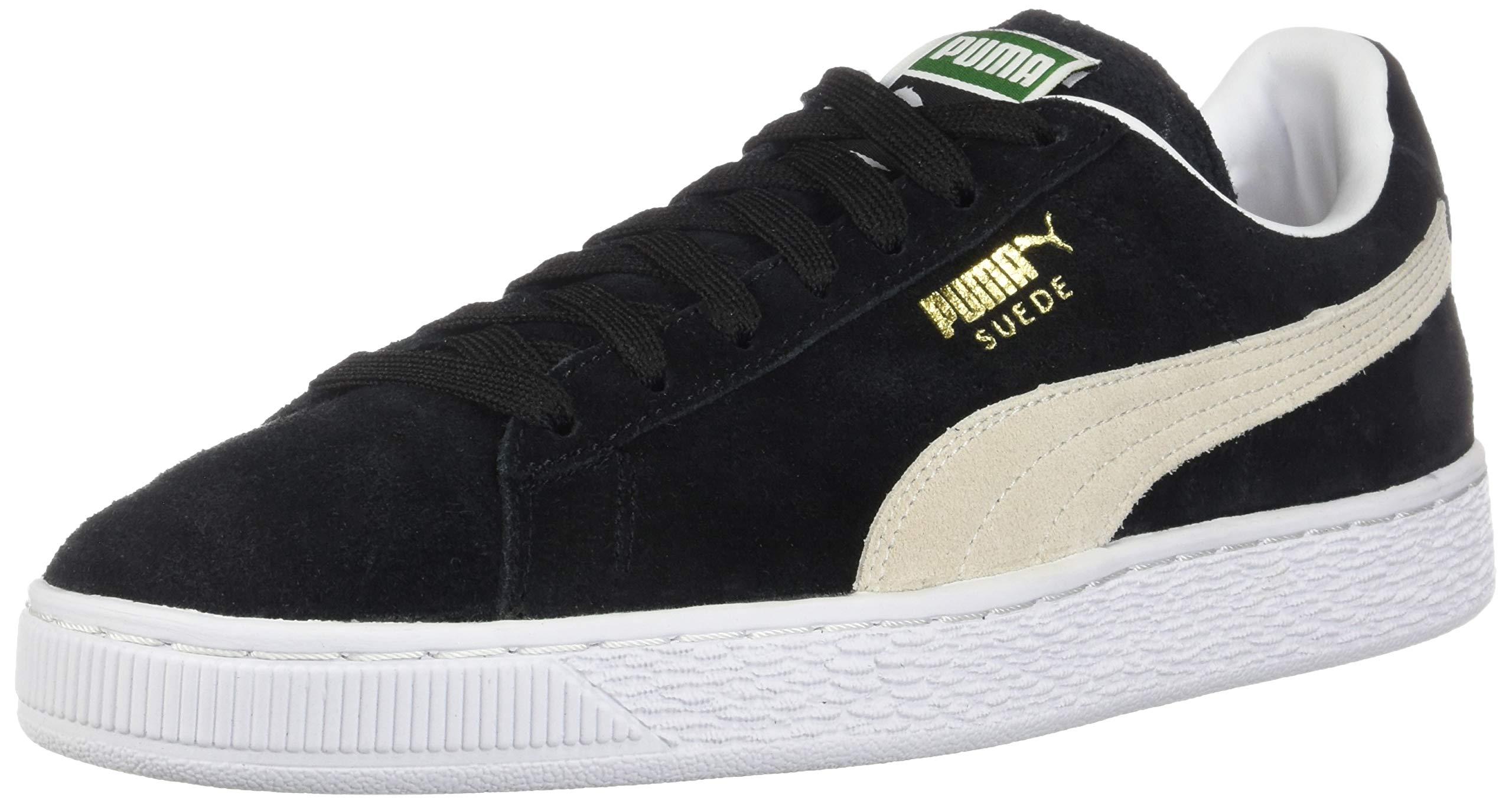 PUMA Suede Classic Sneaker, Black/White, 6 M US Men's