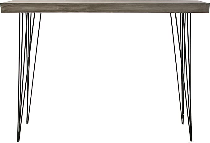 80x25x110 cm Versa 20361009 Tavolo da Ingresso Dallas Legno e Metallo Nero