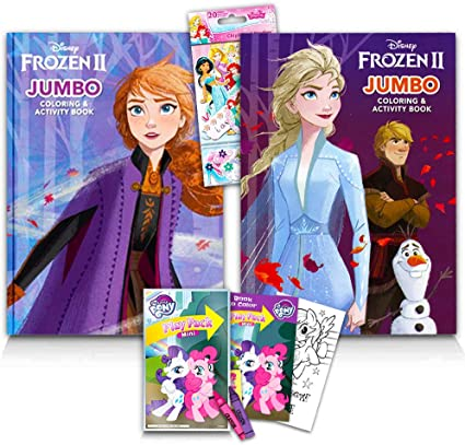 Disney Frozen ll  Coloring and Sticker Activity Book Elsa, Anna Gift Toy New