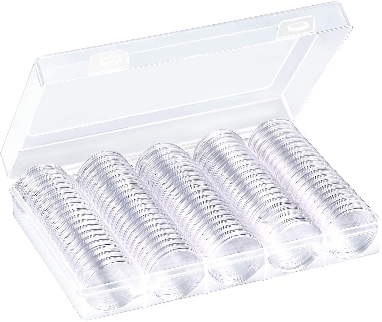 OKIl Small Round Box One Clear Ten Commemorative Coin Coin Collection Box Coin Holder
