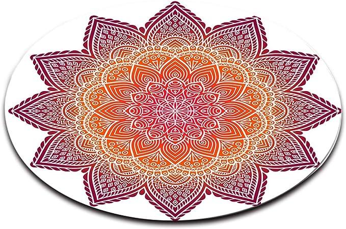 LB Zen,Indien,Mandala,Floral_Round Zone Tapis Salon Chambre à Coucher Salle  de Bains Cuisine Tapis de Sol décoration d\'intérieur,100x100 CM
