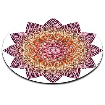 LB Zen,Indien,Mandala,Floral_Round Zone Tapis Salon Chambre à ...