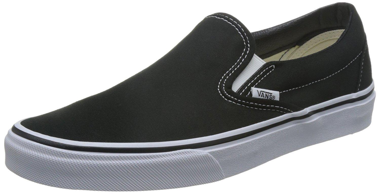 Vans Classic Slip-On Unisex (9.5 B(M) US Women / 8 D(M) US Men, Black)