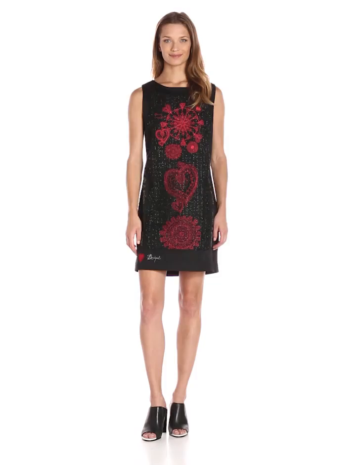 Desigual Womens Dress Scarlett, Black, Small at Amazon Womens Coats Shop