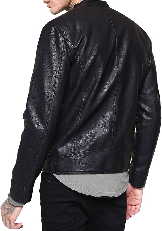 brandMe Mens Genuine Leather Pure Lambskin Biker Jacket MM325