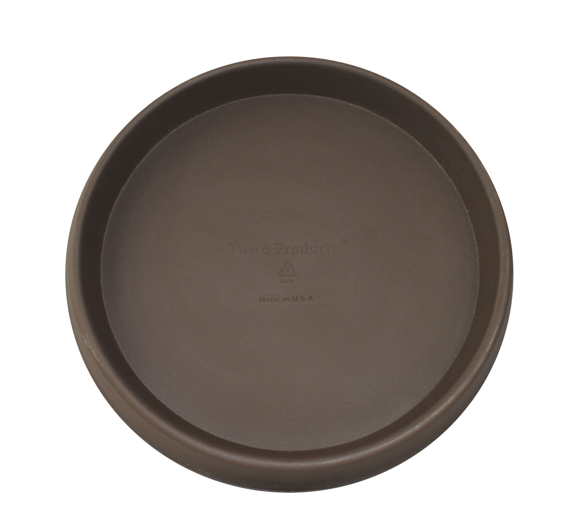 Tusco Products TR18ES Round Saucer, 18-Inch Diameter, Espresso by Tusco Products