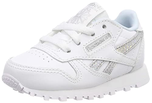 Reebok Classic Leather, Zapatillas de Running para Niñas (bebé), Multicolor (White/Dreamy Blue/Ti Dv3616), 23.5 EU: Amazon.es: Zapatos y complementos