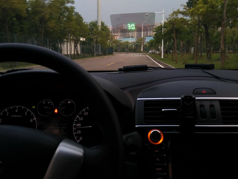 iNeibo Head Up Display HUD con GPS incorporado LED Verde dos Modos de Pantalla y Alarma