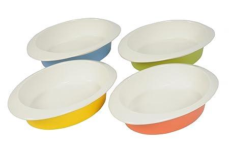 Bandeja de horno ovalada en 4 colores 30 x 20,5 x 6,5 cm de ...