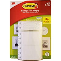 Command Indoor Picture Hanging Strips 34 Large Pairs 68 Strips, 1 Pack