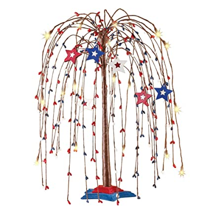 Amazon.com: Collections Etc Americana Star - Árbol con luces ...