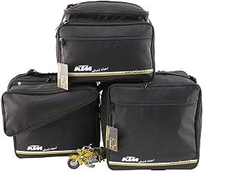 Made4bikers Promotion Bag Ein Satz Koffer Und Topcase Bedruckter Innentaschen Passend Für Ktm 1050 1190 Und 1290 Adventure Material Textil Schwarz Auto