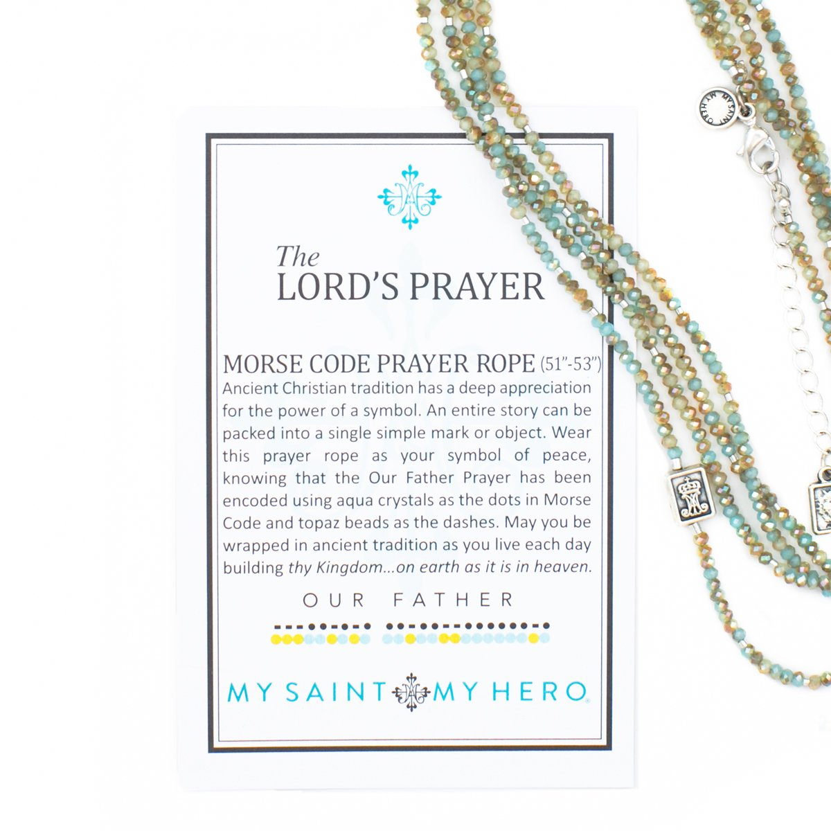My Saint My Hero The Lord's Prayer Morse Code Prayer Rope by My Saint My Hero