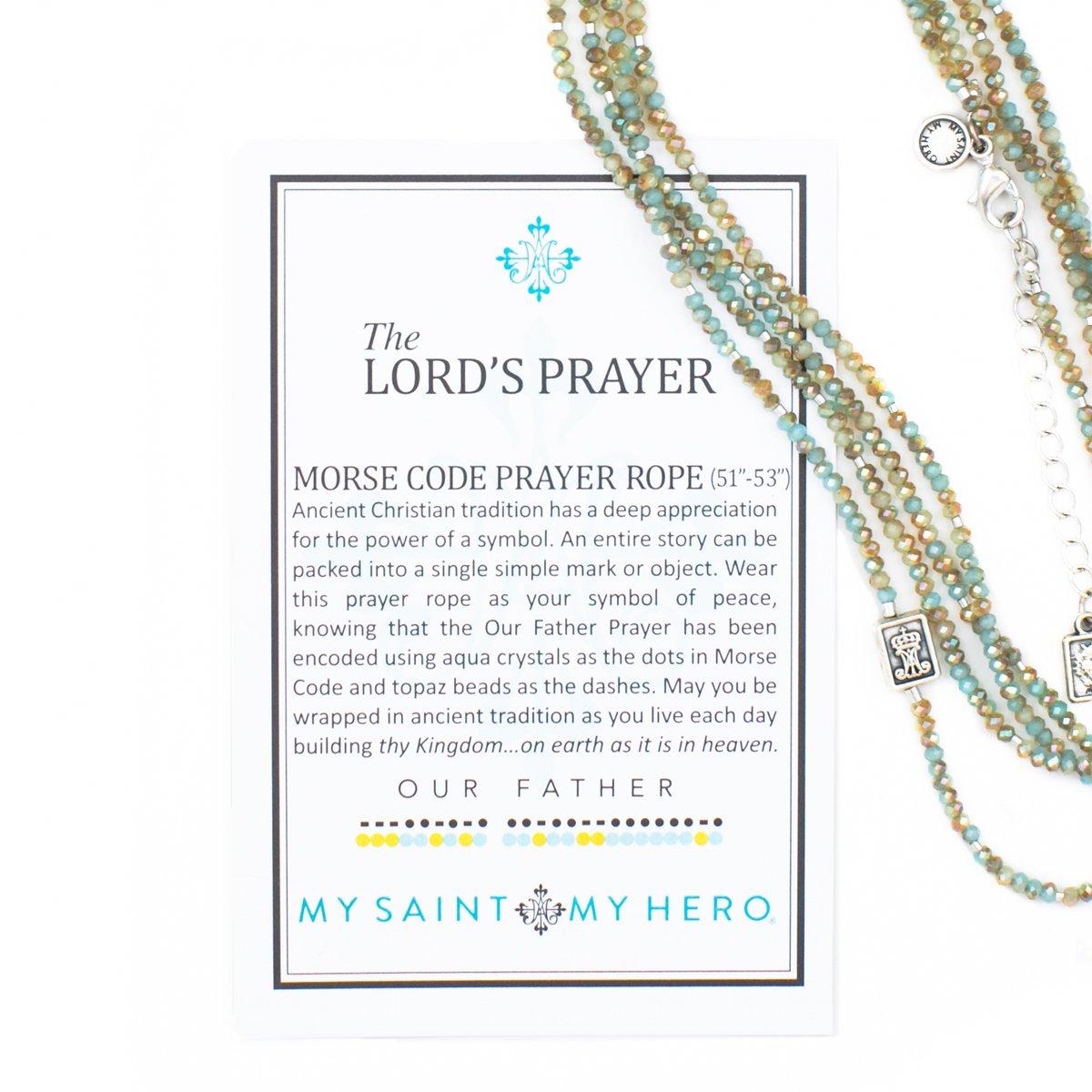 My Saint My Hero The Lord's Prayer Morse Code Prayer Rope