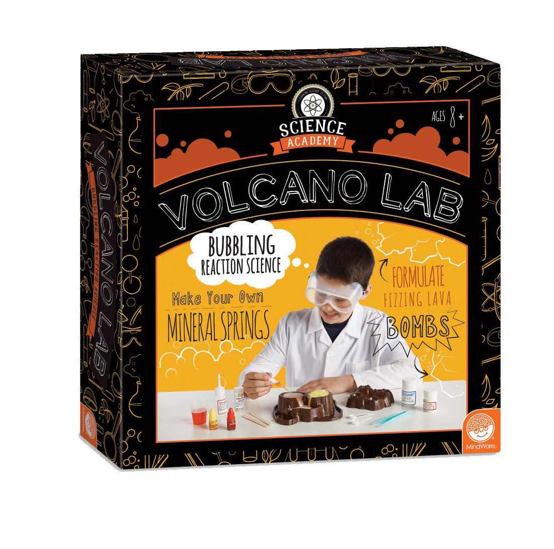 discovery glowing volcano instructions