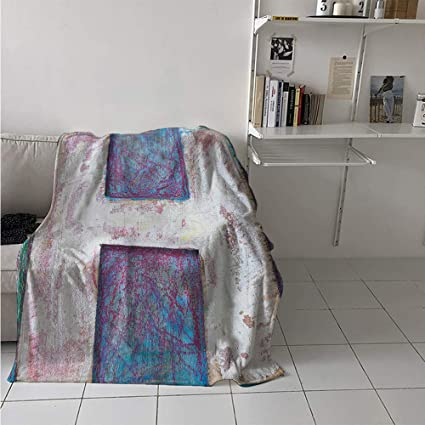Amazon com: Maisi Throw Blanket Extra Large, H with Grungy Texture