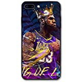 DLAZANA King James Soft Rubber Silicone Cover Phone Case for iPhone 7plus/8plus case