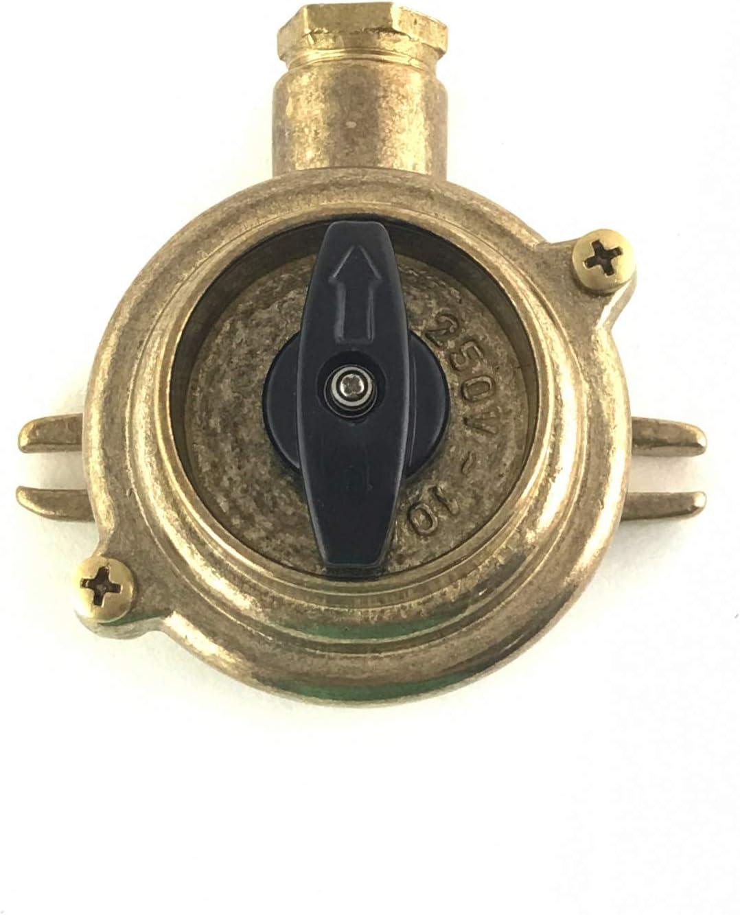 Interruptor rotativo de lat/ón fundido de una sola entrada