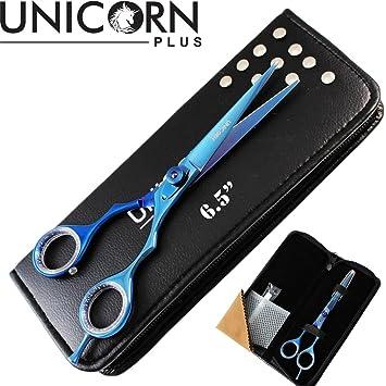Unicorn Plus® – Estuche de peluquero y tijeras para cortar pelo, 5.5