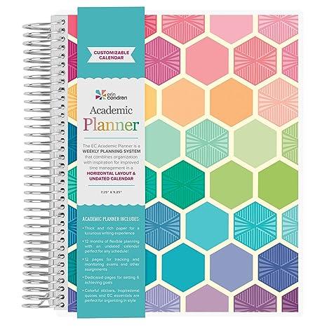 Amazon Com Erin Condren Non Dated Academic Planner Hexagon
